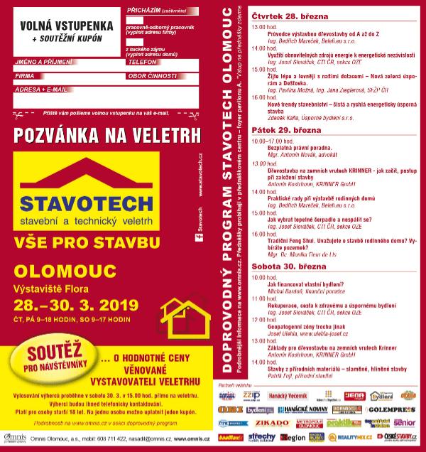 pozvánka na veletrh Stavotech Olomouc březen 2019